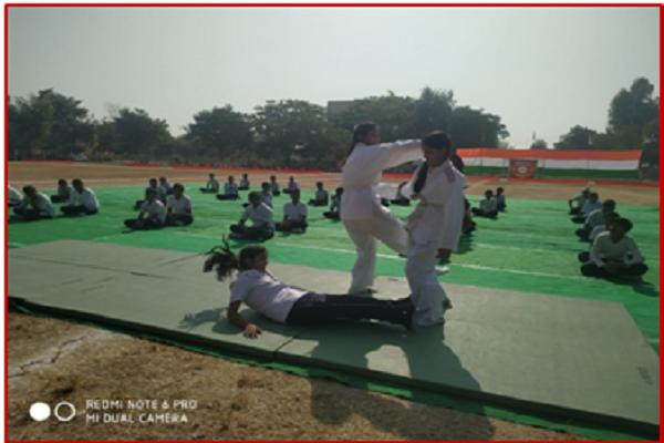 Self Defense Performed by Students